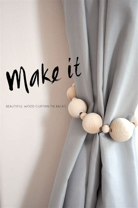 wood curtain tie backs beautiful diy curtain ties backs on a budget interior