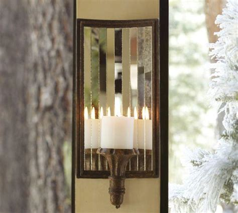 mirrored candle sconce mirrored antique gold candle sconce