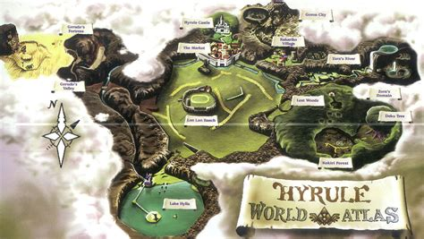 Legend Of Zelda Oot Map | zelda capital maps of hyrule