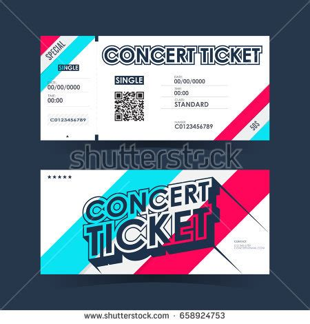 concert ticket templates cards concert ticket stock images royalty free images vectors