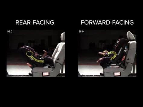 when change car seat to forward facing rear facing vs forward facing crash test how to make