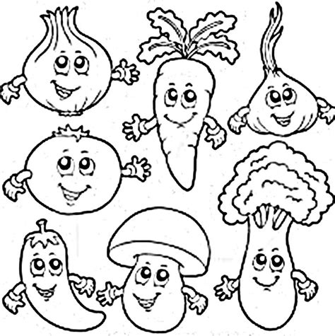 printable coloring pages vegetables vegetables coloring pages www pixshark com images