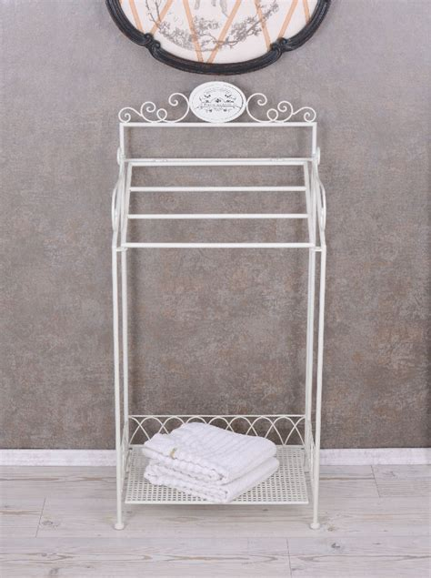 vintage towel rack bathroom shelf towel holder shabby chic
