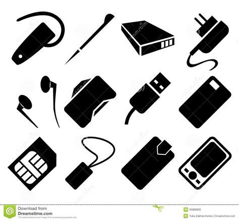 clipart cellulare insieme dell icona degli accessori telefono cellulare
