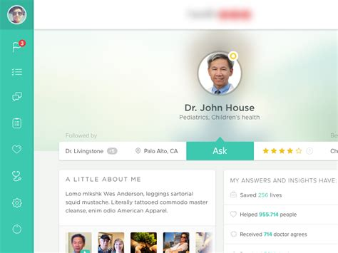 doctor profile by onur oztaskiran dribbble