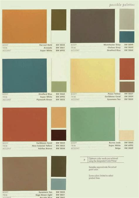 modern house color palette amazing of mid century modern color schemes 9 9450