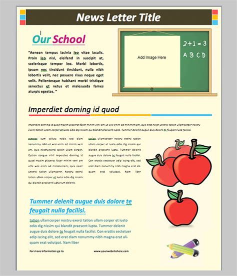Word Newsletter Template 31 Free Printable Microsoft Word Format Download Free Premium School Photo Templates Free
