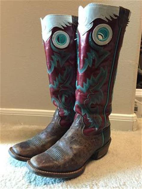 Buckaroo Biker Boots Vintage Handmade - womens ariat buckaroo boots