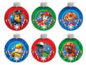 paw patrol free printable christmas ornaments is it for