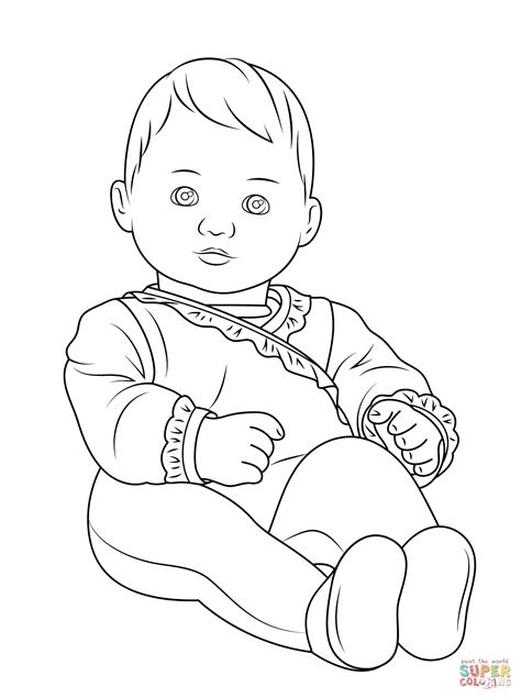 american girl bitty baby coloring page free printable