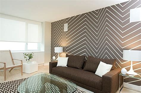 haus interior s freudenberger used narrow uneven chevron trend alert chevron walls