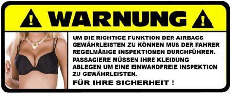 Fan Aufkleber Selbst Gestalten by Funaufkleber Sexy Airbag Warnung Sonnenblende Funsticker
