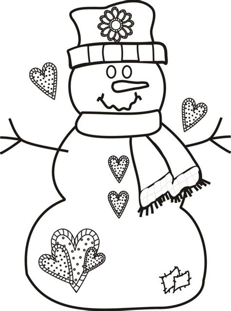 Printable Coloring Pages Christmas Snowman Coloring Home Printable Snowman Coloring Pages