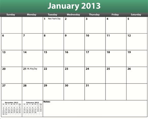 printable calendar with holidays free printable pdf 2013 holiday calendar