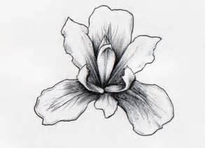 Simple iris black and white tattoo design