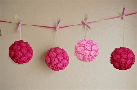 How To Make Crepe Paper Balls - wedding diy crepe paper flower balls paperblog