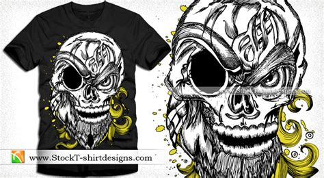 typography tshirt design vector skull with floral vector design vector t shirt designs ai eps stock graphic designs