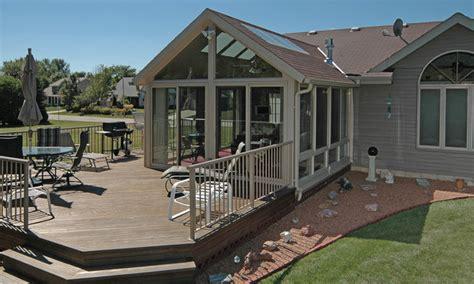 patio enclosures sunroom traditional deck milwaukee