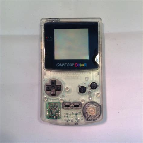 nintendo gameboy color nintendo gameboy color console clear retroplayers