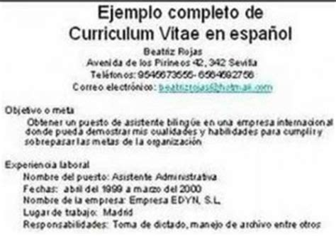 hacer curriculum europeo