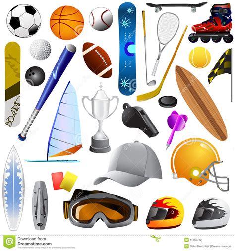 imagenes reales de objetos jogo grande de objetos do esporte ilustra 231 227 o do vetor