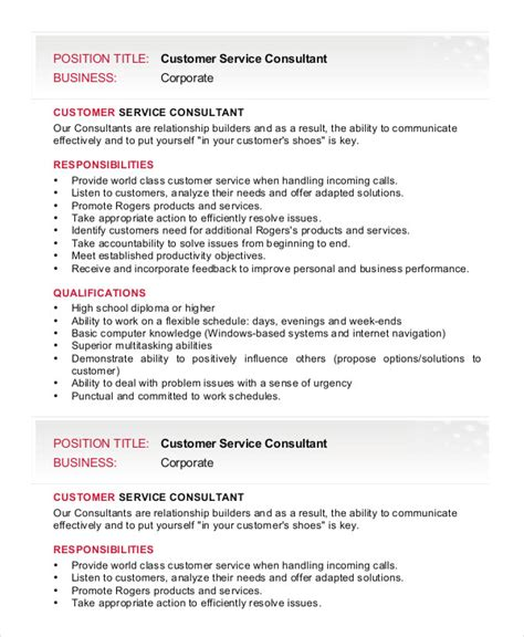 Resume Description Exles by 28 Customer Service Manager Responsibilities Resume Sle