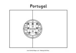 portuguese flag colouring page