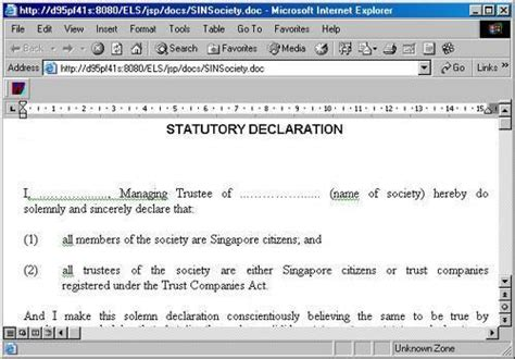statutory declaration template name change statutory declaration to change manner of holding by