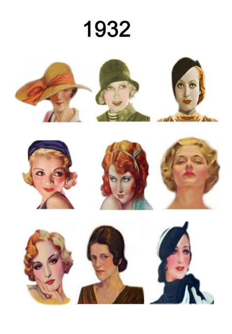 fashion in the depression era 1930 hairstyles women 30s hair on pinterest hat hairstyles hats and 1930s