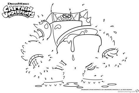 Connect The Dots Coloring Pages Printable by Captain Underpants Coloring Pages Connect The Dots By