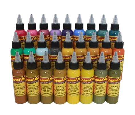 eternal tattoo ink sets chukes seasonal spectrum