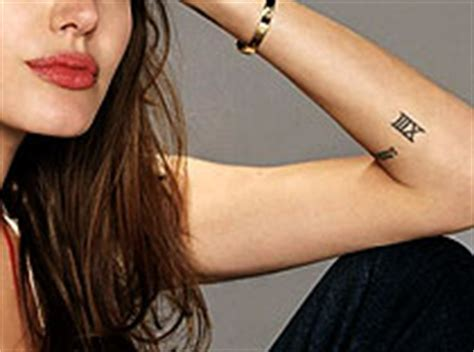 Angelina Jolie Thirteen Tattoo | angelina jolie tattoos with pictures and explanation