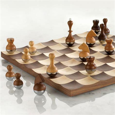 fancy chess boards fancy wobble chess set