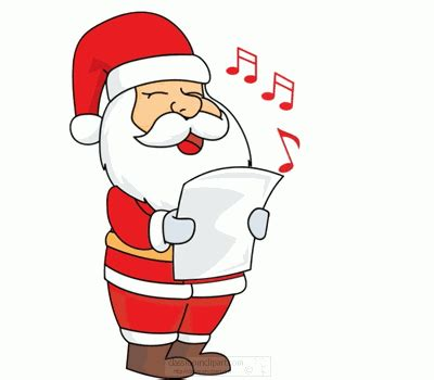 christmas animated clipart santa singing animation f