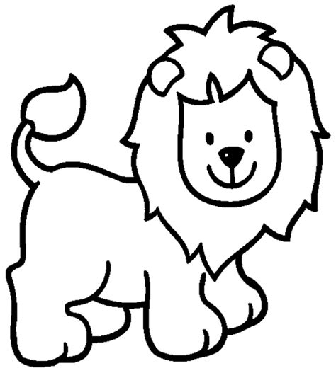 printable lion images free coloring pages of cartoon lion