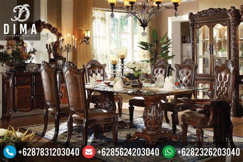 Meja Makan Dibawah 1 Juta kursi meja makan vendome klasik mewah ukiran jepara terbaru murah df 0046 dima furniture jepara