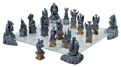 50 classic gothic works b076p9x747 classic collectible medieval gothic dragons chess set chess board and pieces transitional