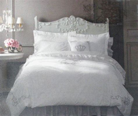 shabby chic king bedding simply shabby chic white silver gray embroidered king