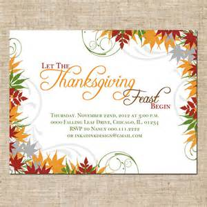 items similar to printable thanksgiving invitation