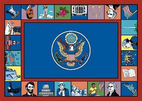 symbols of america 169 school rug