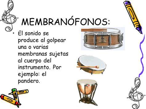 imagenes de instrumentos musicales membranofonos los instrumentos musicales de la orquesta sinf 211 nica ppt