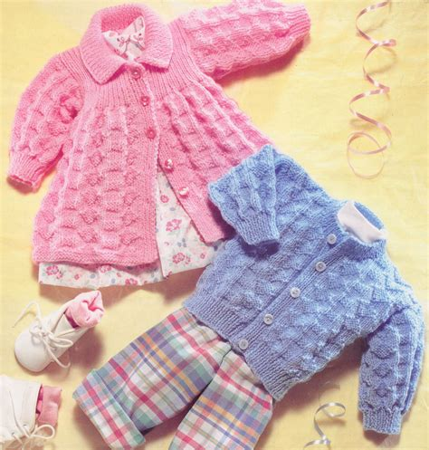 pattern baby vintage baby matinee coat cardigan dk knitting pattern