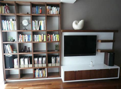 bookcase and media center design