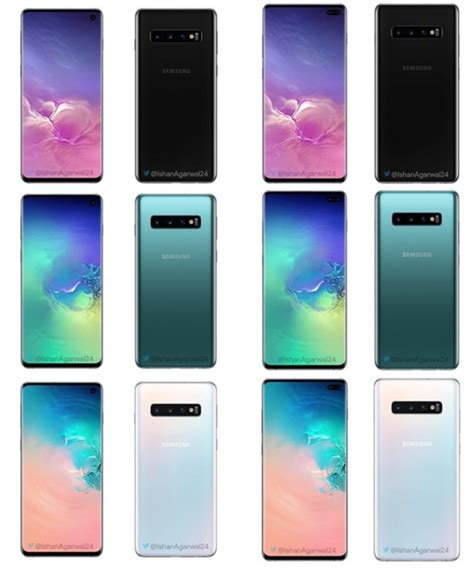 Samsung Galaxy S10 Options by Samsung Galaxy S10 Series Colour Options Revealed Gizchina