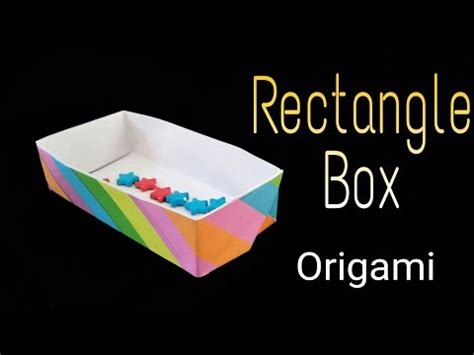 How To Make An Origami Rectangle Box - how to make an origami rectangular box funnycat tv