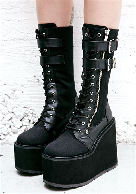 demonia boots for demonia wyvern rider platform boots dolls kill