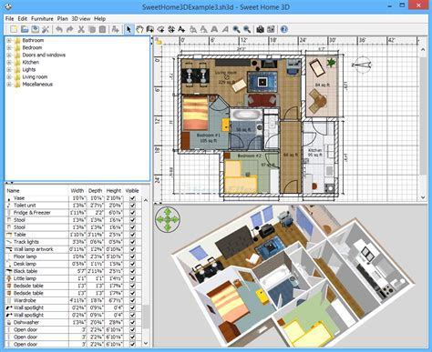 sweet home 3d design software reviews sweet home 3d screenshot and at snapfiles