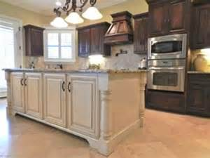 dark cabinets white island for the home pinterest