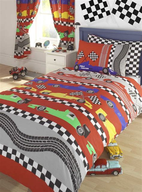 racing bedding kids reversible bedding duvet cover set racing cars design