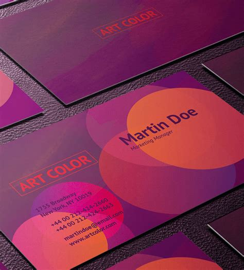 colorful business card templates free 55 free creative business card templates designmaz